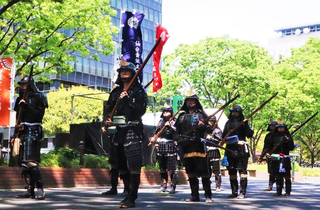 仙台青葉祭 伊達古式鐵炮隊火槍表演