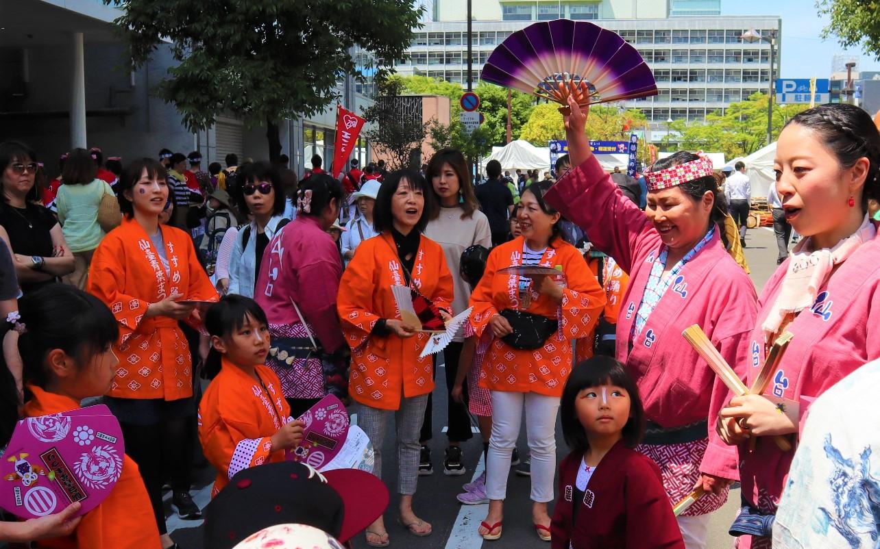 仙台青葉祭 麻雀舞教學