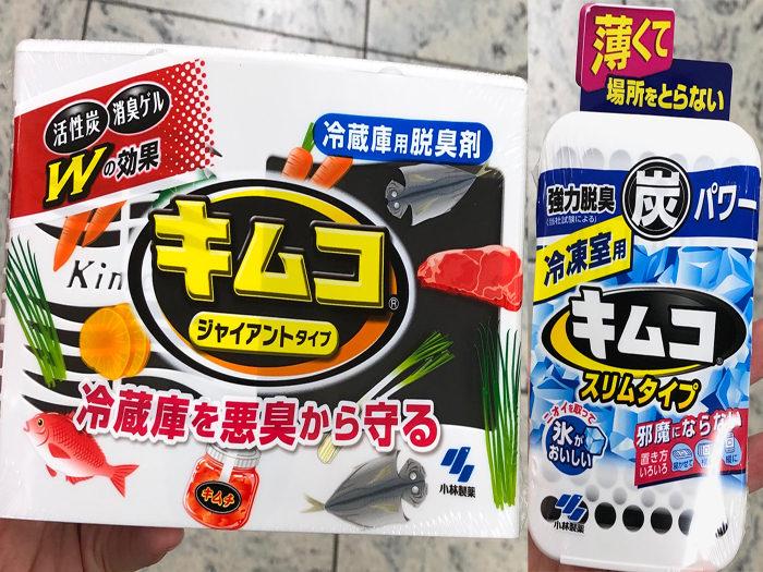 左圖: 冰箱冷藏專用脫臭劑(113g,195日圓)右圖: 冷凍專用脫臭劑(26g,250日圓)