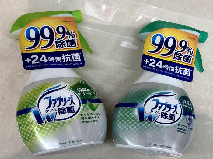 雙效除菌布用除臭劑(370ml,321日圓)