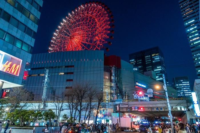 HEP FIV 摩天輪 大阪 夜景