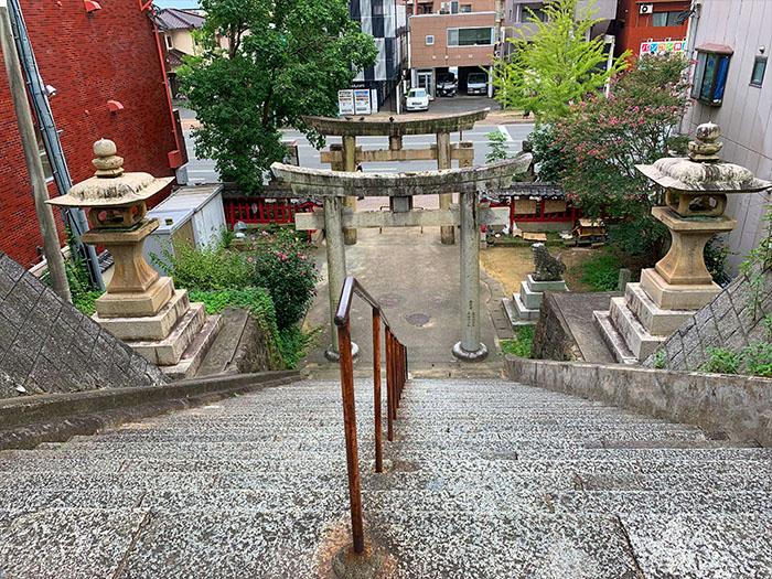 福岡鷲尾愛宕神社 階梯