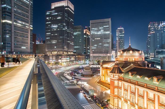 東京站夜景 KITTE GARDEN