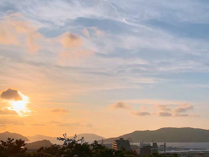 福岡鷲尾愛宕神社 夕陽