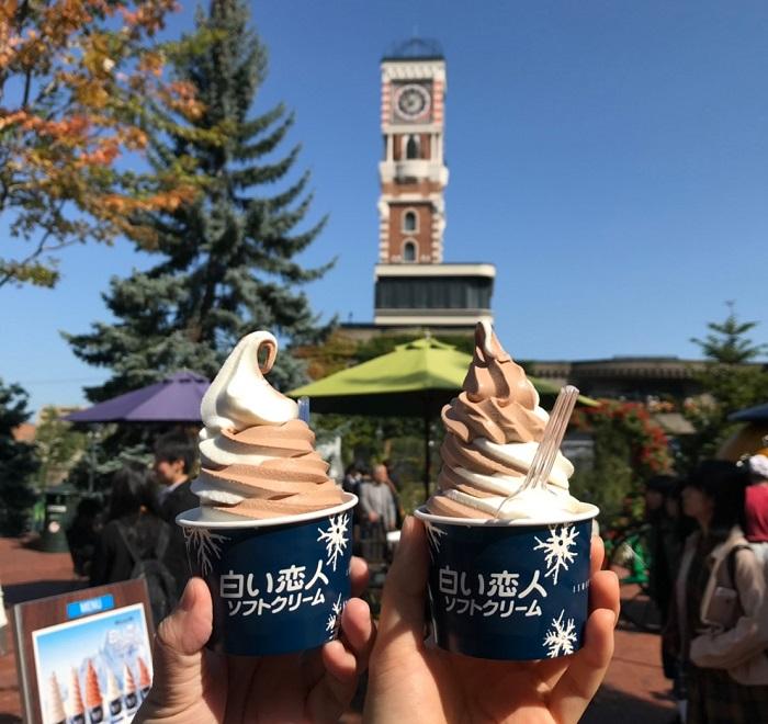北海道自由行 白色戀人霜淇淋