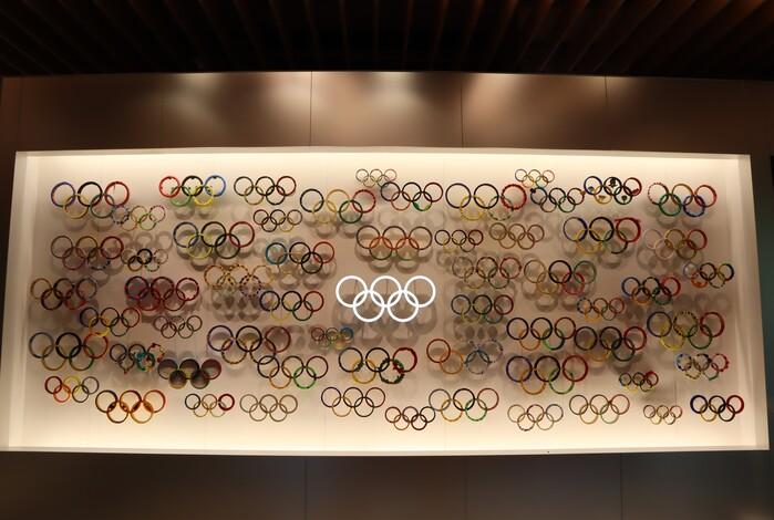日本奧林匹克博物館 五輪裝置藝術