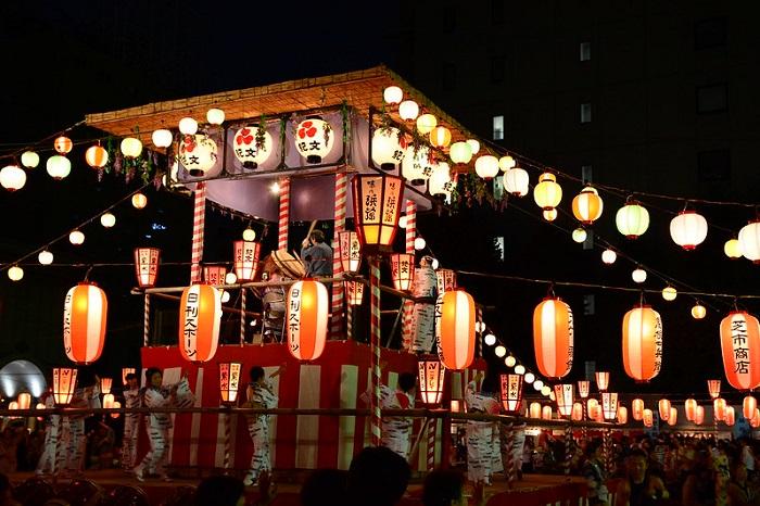日本 中元節 盆踊り