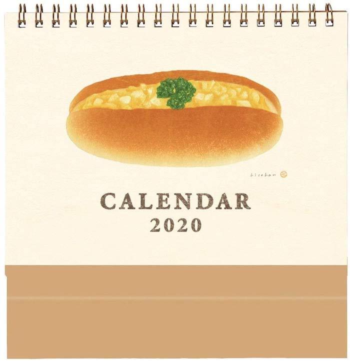 2020 loft 麵包桌曆