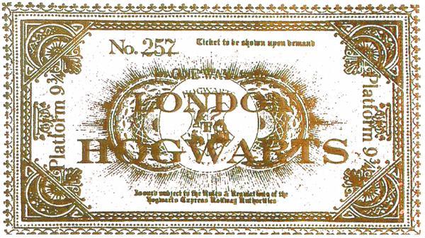 霍格華茲特快車 車票