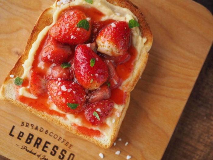 LeBRESSO 草莓卡士達吐司 日本草莓季