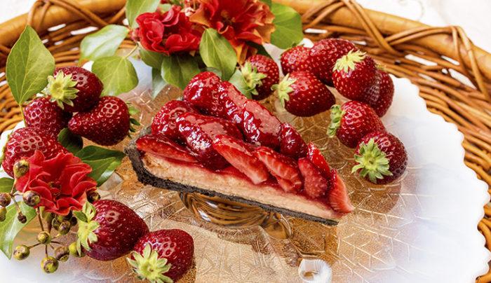 Qu'il fait bon 黑草莓塔切面